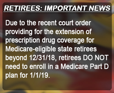 Prescription drug coverage for Medicare-eligible retirees will extend beyond Dec 31, 2018 Impacted retirees do not have to enroll in Medicare Part D plan for 2019