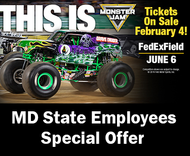 Monster Jam June 6 Md State Employees Special Offer