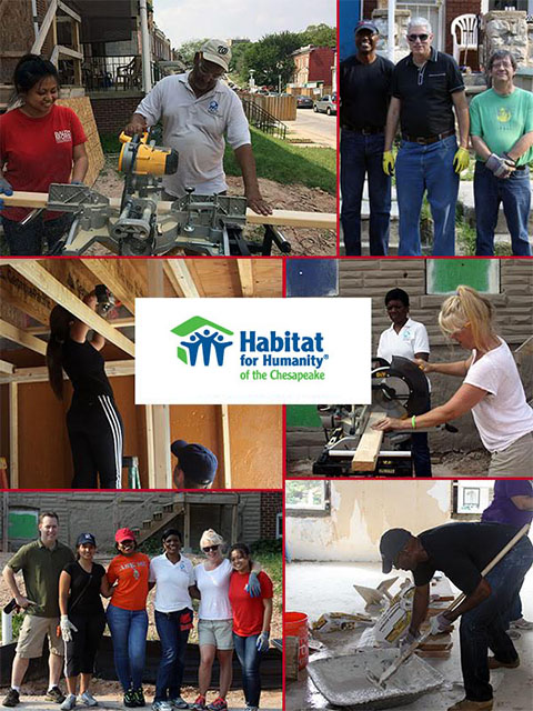 DHCD Employees volunteer at Habitat for Humanity of the Chesapeake
