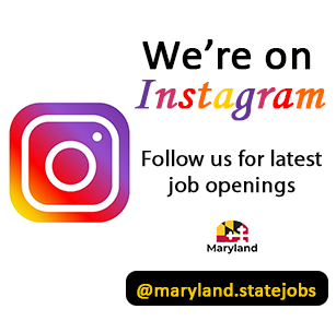 We're on Instagram Follow us for latest job openings @maryland.statejobs