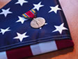 American Flag and Medal